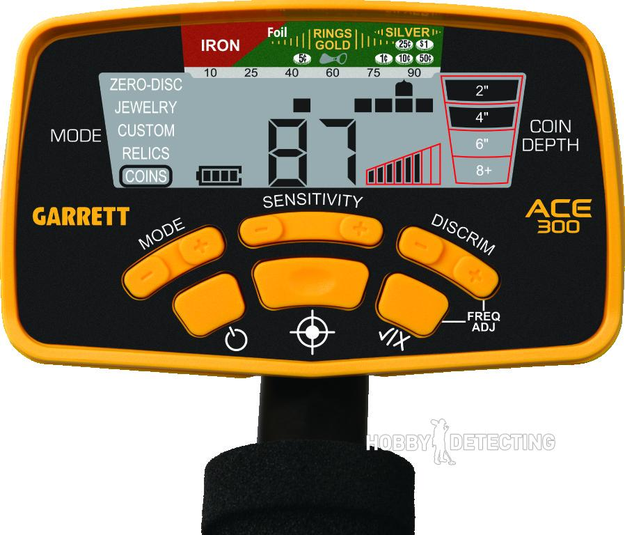 Garrett ACE 300 Panel