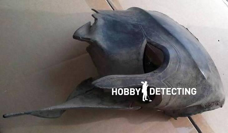Old Greek Hoplite soldier helmet discovered Garrett ACE 250 Metal detector