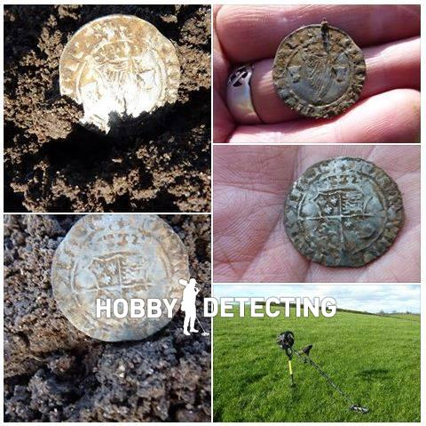 Irish silver coin discovered with Teknetics T2