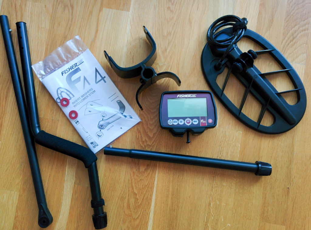Fisher F44 metal detector what is in kit box accessories