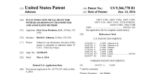 New Patent by First Texas Products fresh brief of pulse induction technology new for metal detecting