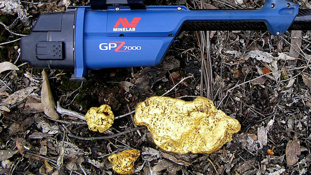 huge gold nugget detected Minelab GPZ 7000