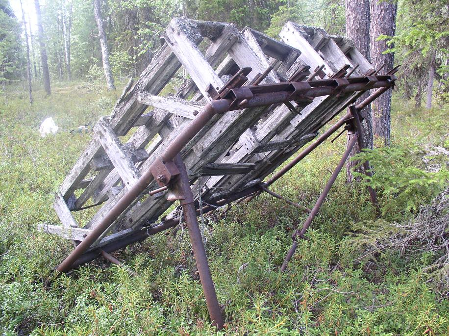 WW2 battlefield in North Karelia