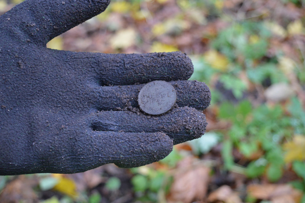 Old copper coin