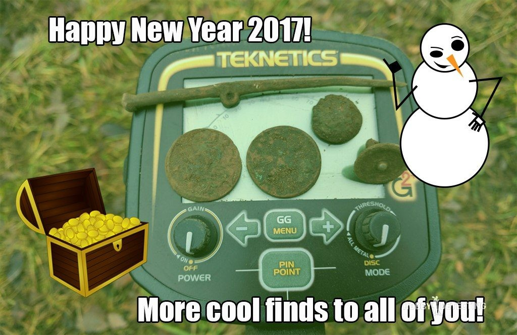 Happy New Year 2017! Wish you more finds in upcoming season! (Post your wishes in comments!) metal detectorists dirt fishers