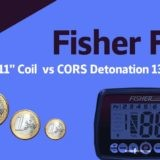 Metal Detector Fisher F44 and CORS Detonation coil depth test! (Video+)