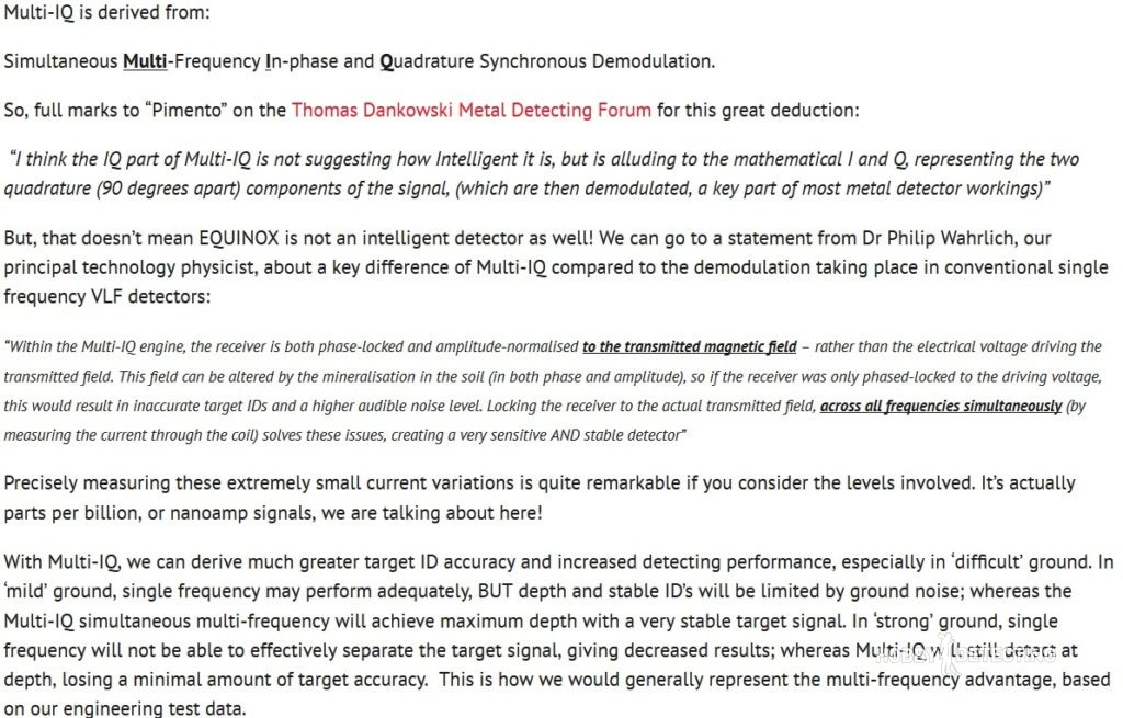 New secret technologies by Minelab? New info about Equinox Multi-IQ and how does it work! (pictures and schemes+)
