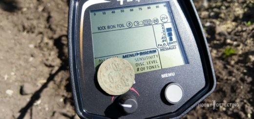 Teknetics T2+ strikes XVII century coin!